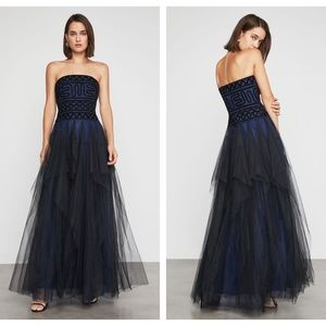 BCBGMaxAzria Strapless Embroidered Lace Gown $498